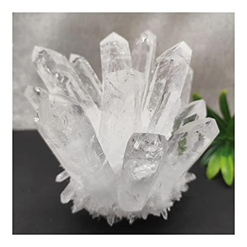 MYUA Cristal de curación 1 unids Natural Blanco Cuarzo Cuarzo Croqueter Punto de Catridación Piedra Curación (Size : 700-800g)