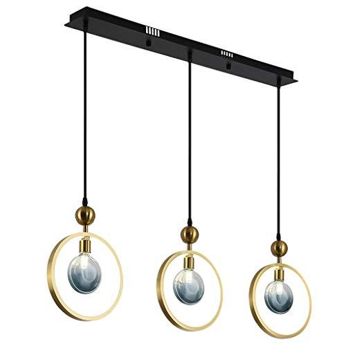 YI0877CHANG Iluminación Colgante Restaurante de la lámpara Tres Jefe de la Personalidad Creativa Bar Tabla de iluminación Frontal de lámpara de Escritorio de la lámpara lámpara de suspensión