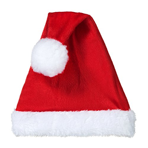 00302a7a1a700 Decorative Santa Claus Hat - Hat with Elastic Base   Wire for Positioning -  Pack of