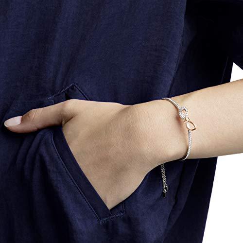Swarovski Bracciale Rigido Lifelong Bow, Bianco, Mix di Placcature