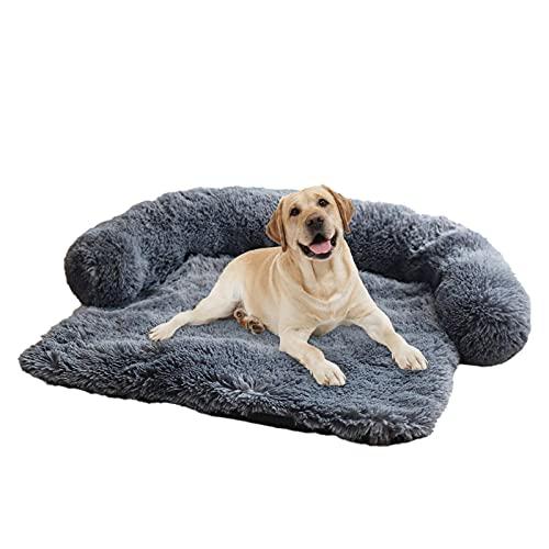 Niktule Cama ortopédica para perro, suave y cálido, sofá de felpa, plegable y fácil de llevar, para perreras y jaulas, asientos traseros de coche, sofás, muebles, s/m/l regular