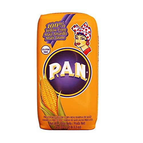 Harina P.A.N. 黄色 とうもろこし粉 1kg×20個セット 業務用 Harina de Maiz Amarillo Precocida エンパナーダ タマール用 コーンミール マサ 粉 イエロー アリーナ パン