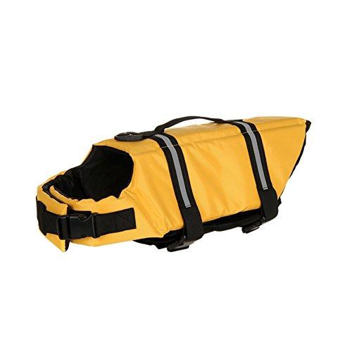 GOGO Chaleco salvavidas para perro, chaleco de seguridad para perros, color amarillo
