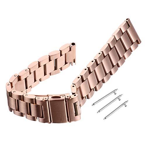 ibasenice Banda de Reloj de Acero Inoxidable para Garmin Venu Sq Reemplazo de Correas de Pulsera de Acero de Liberación Rápida