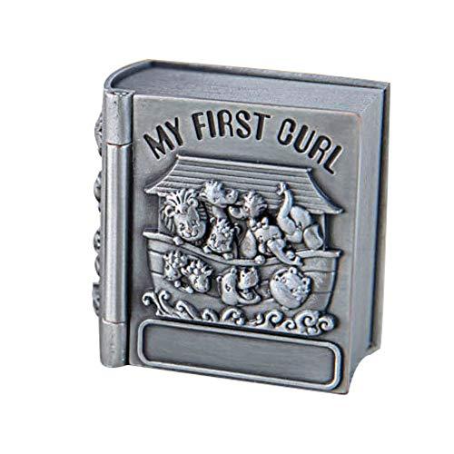 joyeros,Caja de colección de dientes de hoja caduca de lanugo para bebés, mini libro de estilo europeo casa de almacenamiento de dientes de lanugo para bebés
