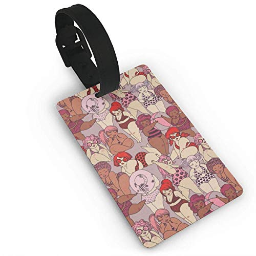 Luggage Tags with Cartoon Bikini Beauty Printing ID Lable Baaggage Hanbdag Id Tag