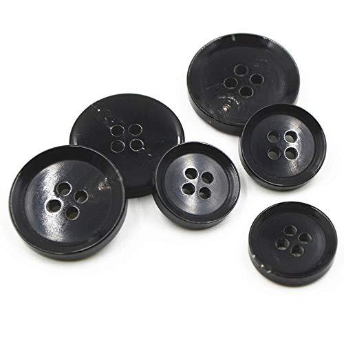 11Pcs Brown Black Buffalo Horn Buttons Suit Jacket Blazer Coat SetBespoke Replace Trim Buttons,Brown,25mm