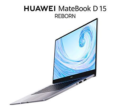 "HUAWEI MateBook D15 PC - 8GB+256GB DDR4 RAM Laptop, 65W USB-C Charger,15.6"" FHD Fingerprint Laptops with Huawei Share,AMD Ryzen 5 3500Uprocessor Tablet-Silver"