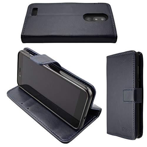 caseroxx Handy Hülle Tasche kompatibel mit Emporia Smart 3 Mini Bookstyle-Hülle Wallet Hülle in blau