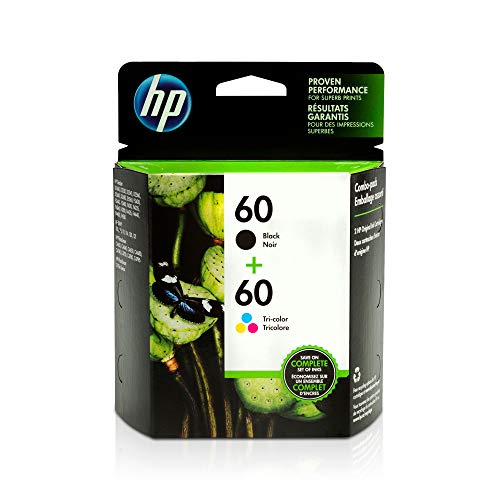 HP 60 Black + 60 Tricolor Ink Cartridge Combo-Pack