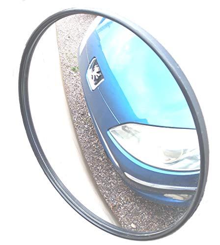 SNS SAFETY LTD Convexo espejo tráfico, de diámetro 22 cm, para la seguridad vial y la seguridad tienda, con soporte de pared ajustable
