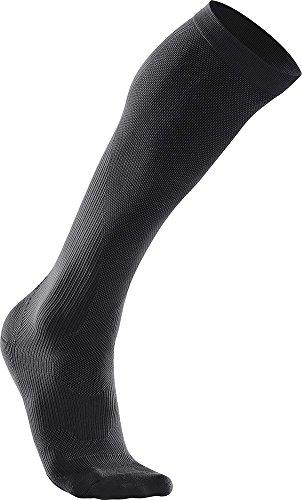 2XU - Compression Perf Run Sock, Color Negro, Talla XS