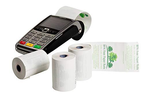 Ingenico iCT220Bonrollen für Karten (50Rollen pro Box) 57x 40mm Thermo-Kassenrollen BPA-frei–BPC, BPF, gratis–BPS gratis–Phenol Free (2) 57 mm weiß