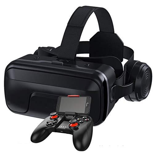 JCSW Realtà Virtuale, VR Occhiali 3D Compatibile con Tutti Gli Smartphone da 4,7 a 6,5 Pollici, Lente Regolabile e Comoda Cinghia per Film e Giochi 3D, Samsung, Huawei,LG,Sony,Xiaomi,iPhone, O004XB