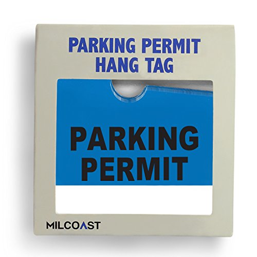 Parking Permit Pass Stock Hang Tags for Employees, Tenants, Students, Businesses, Office, Apartments, 10 Pack (Blue) Photo #2
