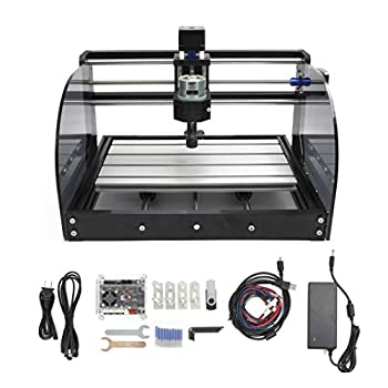 CNC 3018 Pro Max 3 Axis Desktop DIY Mini Wood Router Kit Engraver Woodworking PCB PVC Milling Engraving Carving Machine GRBL Control with ER11 Collet  3018 Pro Max