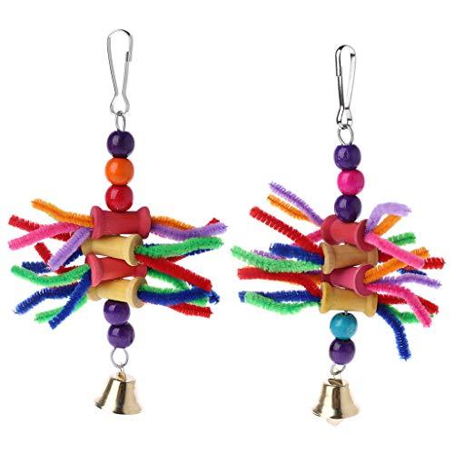 Fogun Parrot Jouets à mâcher Multicolor Bird Parrot Bite Ficelle Toys balançoire Cage Accessoires