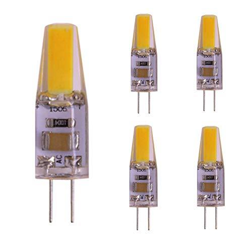 G4 Bi-Pin-LED-Sockellampe, 220V 2W 1505 COB-LED-Scheinwerfer, 20W-Halogenlampenäquivalent, kein flackerndes staubdichtes warmes Weiß für Leuchter RV-Boot, 5er Pack