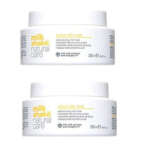 Milk Shake Active Milk Mask Duo Pack 2x 200ml Máscara ristrutturante para pelo Cubos o rotos 400ml. Promoción envío gratuita