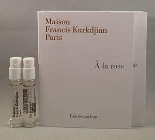 2 Maison Francis Kurkdjian a La Rose EDP Spray Sample Vial 2 Ml/.06 Oz for Women