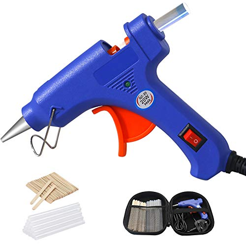 Hot Glue Gun with Carrying Case, Mini Heating Hot Melt Glue Gun with 20pcs...