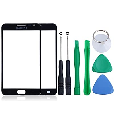Black Front Screen Glass Replacement for Samsung Galaxy Note N7000 Free Tool