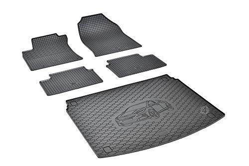 Passgenaue Kofferraumwanne und Gummifußmatten geeignet für Kia X-Ceed ab 2019 + Autoschoner MONTEUR