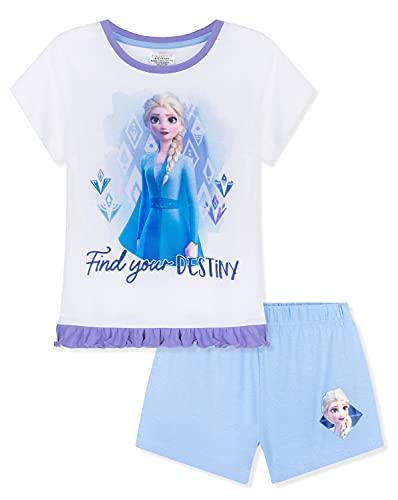 Disney Pijama Niña Verano, Pijama Niña De Frozen, Conjunto Verano Niña con Elsa, Ropa De Manga...