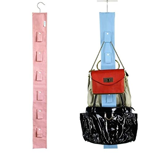 hanging purse organizer for closet Hanging Closet Organizer Purse Storage with Swivel Hanger Purses Handbags Satchels Crossovers Backpacks Rack