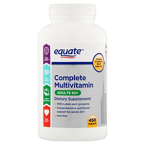 Equate Adults 50+ Complete Multivitamin/Multimineral Supplement Tablets, 450 Ct
