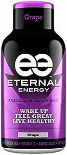 Eternal Energy shot GRAPE flavor 2oz - 12 Pack - Vitamin B, Vitamin C, Amino Acids, Antioxidants, Caffeine, Quercetin, Taurine, Green Tee
