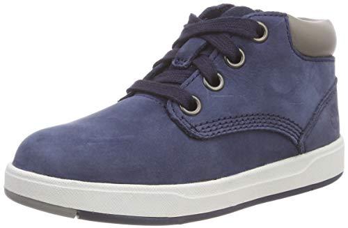 Timberland Unisex-Kinder Davis Square Leather Chukka Boots, Blau (Navy Nubuck), 21 EU