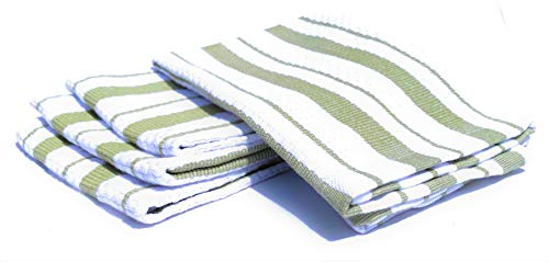 Williams-Sonoma Classic Striped Dishcloths, Dishrags (Sage Green)