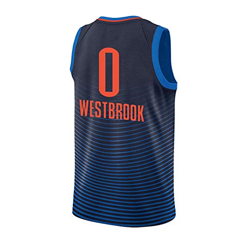 GAAHAA EIN Muss für Fans, Rockets # 0 Westbrooks Fan-Shirt, Trikots Basketballuniform, Ärmellose Sportweste Wettbewerb-Cyan-XS