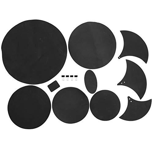 Bnineteenteam 14 Teile/Satz Schalldämpfer Pad Drum Pads Praxis Stumm Gummischaum 5 Runde Pad 3 Unregelmäßig Gebogene Pad Anzug für Schlagzeuger