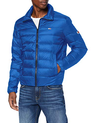 Tommy Jeans TJM Packable Light Down Jacket Chaqueta, Azul (providence blue), M para Hombre