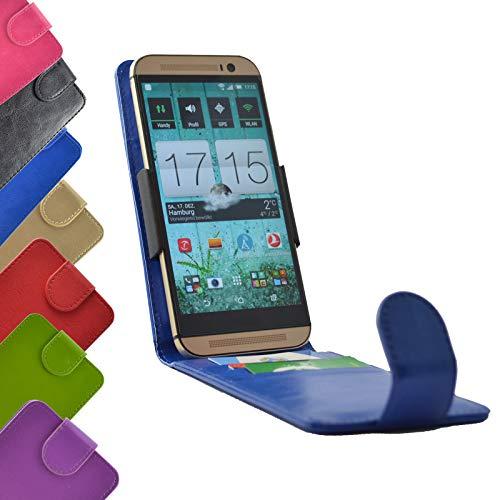ikracase Flip Tasche für Gigaset GS160 Smartphone Hülle Slide Cover Case Handytasche Handyhülle Schutzhülle in Blau
