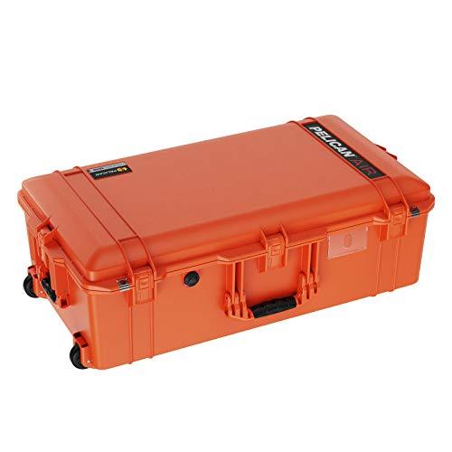 Pelican Air 1615 Koffer mit Schaumstoff (2020 Edition mit Druckknopf-Verriegelungen) – Orange (016150-0001-150)