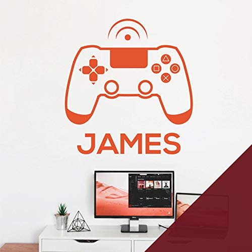 Wandaufkleber für Spielkonsole, Game Controller – Xbox, Playstation, personalisierbar, Burgunderrot