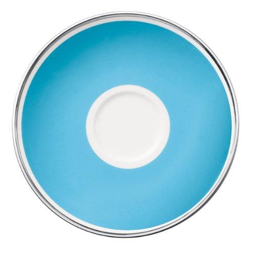 Villeroy & Boch 15cm Kaffeeuntertasse Anmut My Colour aus Premium Bone Porzellan Farbe: Sky Blue