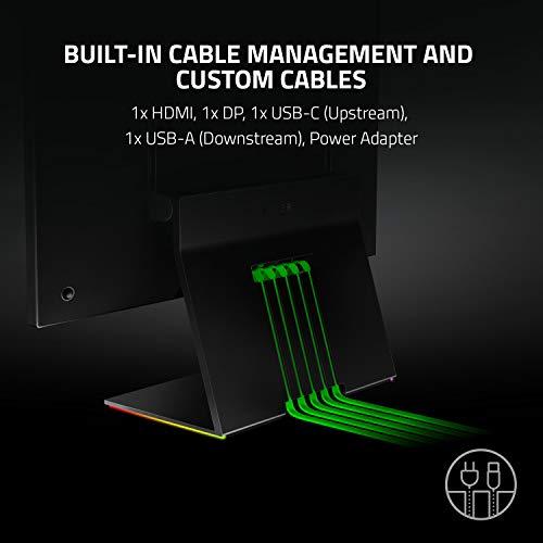 Razer Raptor - 27 Zoll Gaming Monitor mit 144 Hz Bildschirm (WQHD 2560 x 1440, IPS, 1 ms Reaktionszeit, HDR 400, NVIDIA G-Sync + AMD FreeSync, Razer Chroma RGB, HDMI, DisplayPort, USB-C)