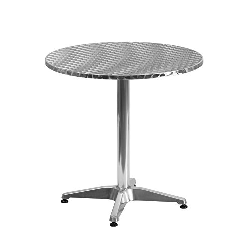 Flash Furniture 27.5'' Round Aluminum Indoor-Outdoor Table with Base - TLH-052-2-GG