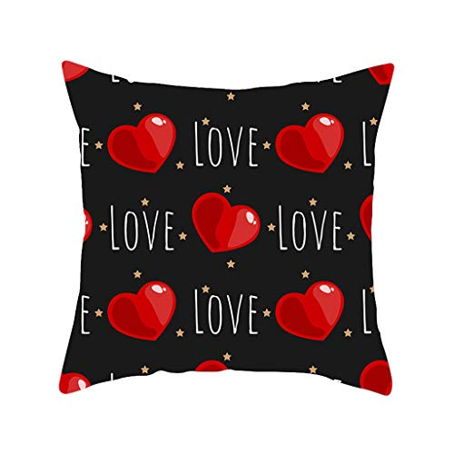 HINK Funda de Almohada para el día de San Valentín Funda de cojín para la Cintura del Coche del sofá de...