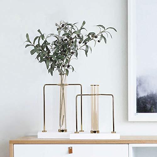 KK Zachary Wohnzimmer Schlafzimmerdekoration Ornamente Startseite Couchtisch Kreativer Blumentisch Esstisch Glas Blume 30 * 12 * 38 cm (Color : Large)