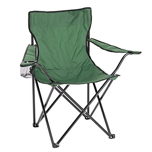 Sedia Campeggio Pieghevole da Esterno Giardino, Sedia Camping Portatile Pieghevole, Sedia da Campeggio, Pesca, Colore Verde 50x50x80 cm