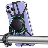 QcoQce Porta Cellulare Bici Universale, 360° Rotabile Supporto Smartphone Moto e Bicicletta Staccabile, Supporto Telefono per iPhone 11/XR/X/7/8 Plus, Galaxy S9/S10/Note 9, altri telefoni da 4,0'-6,8'