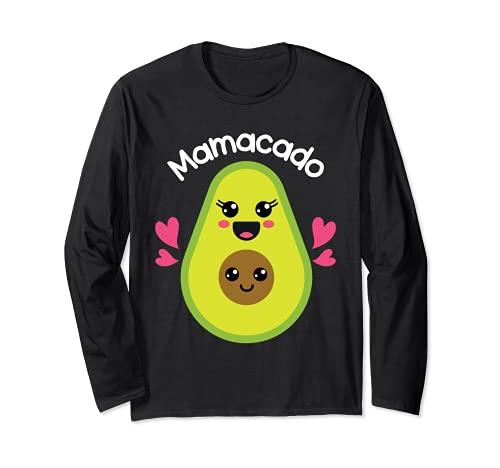 Mamacado 妊婦 ママ かわいいアボカドギフト 長袖Tシャツ