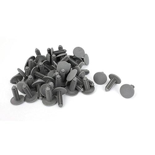 Coche empuje plástico gris anclaje de remaches clips Defensa 7mm agujero 100pcs