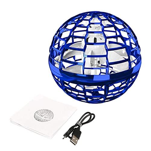 Volando Spinner Juguete LED Globo Controlador Mini Drone Flight Flight Lámpara de bola giratoria Azul