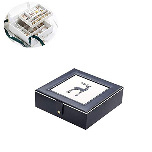 Futterautomat Katze Ohrring Aufbewahrung Schmuckaufbewahrung Schmuckkästchen Jewelry Organizer Ohrring Aufbewahrungsbox Hübsche Schmuckschatulle Kreative Schmuckaufbewahrung Dark Blue